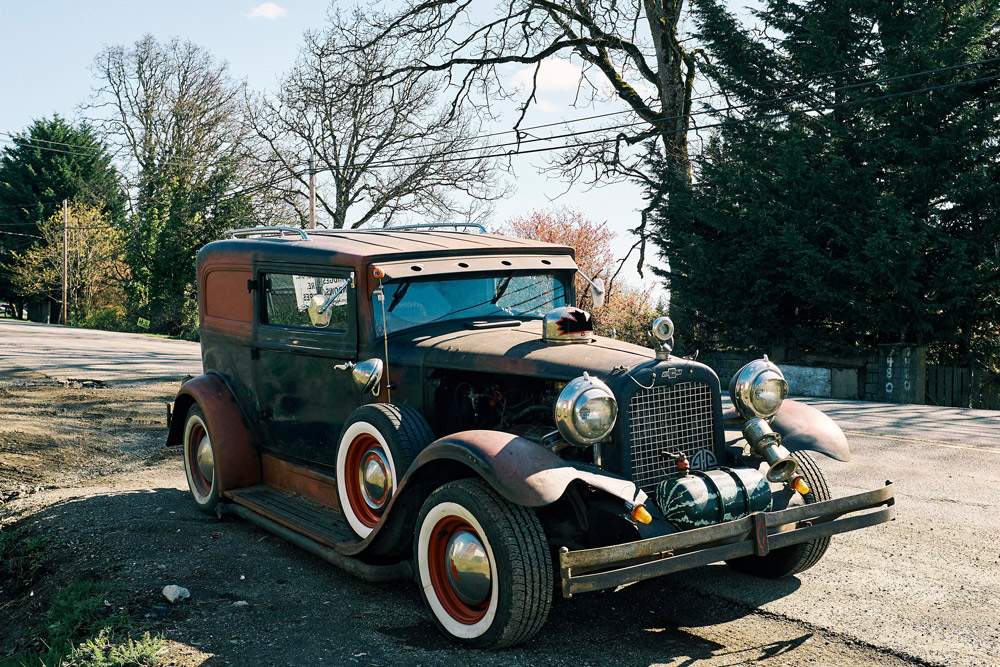 funky old Denman car